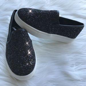 NWOT Report Kids glittery Slip Ons shoes